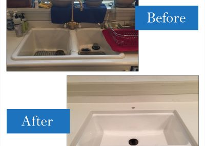 Cast iron drop-in replaced with Kohler porcelain undermount farm sink